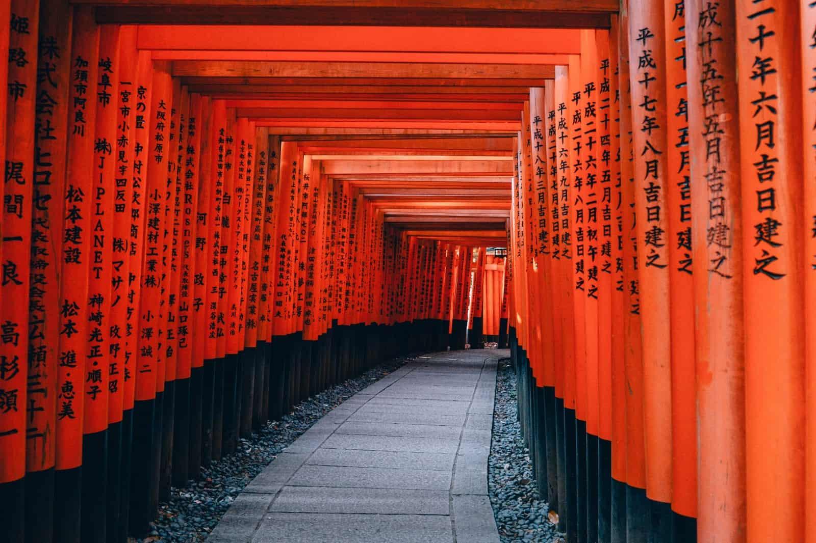 visit the Fushimi Inari Shrine