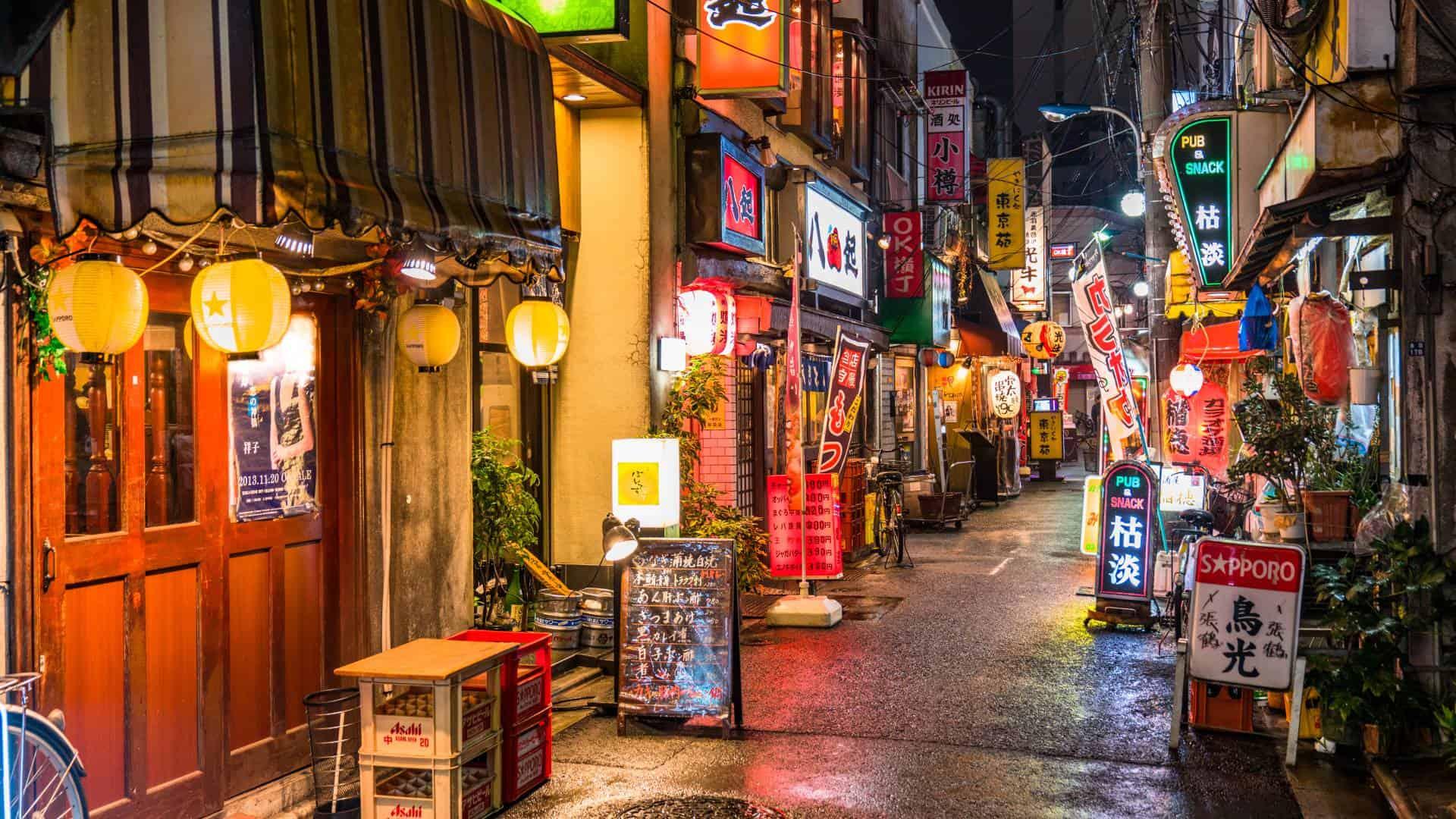 visit the Izakaya Alley tokyo