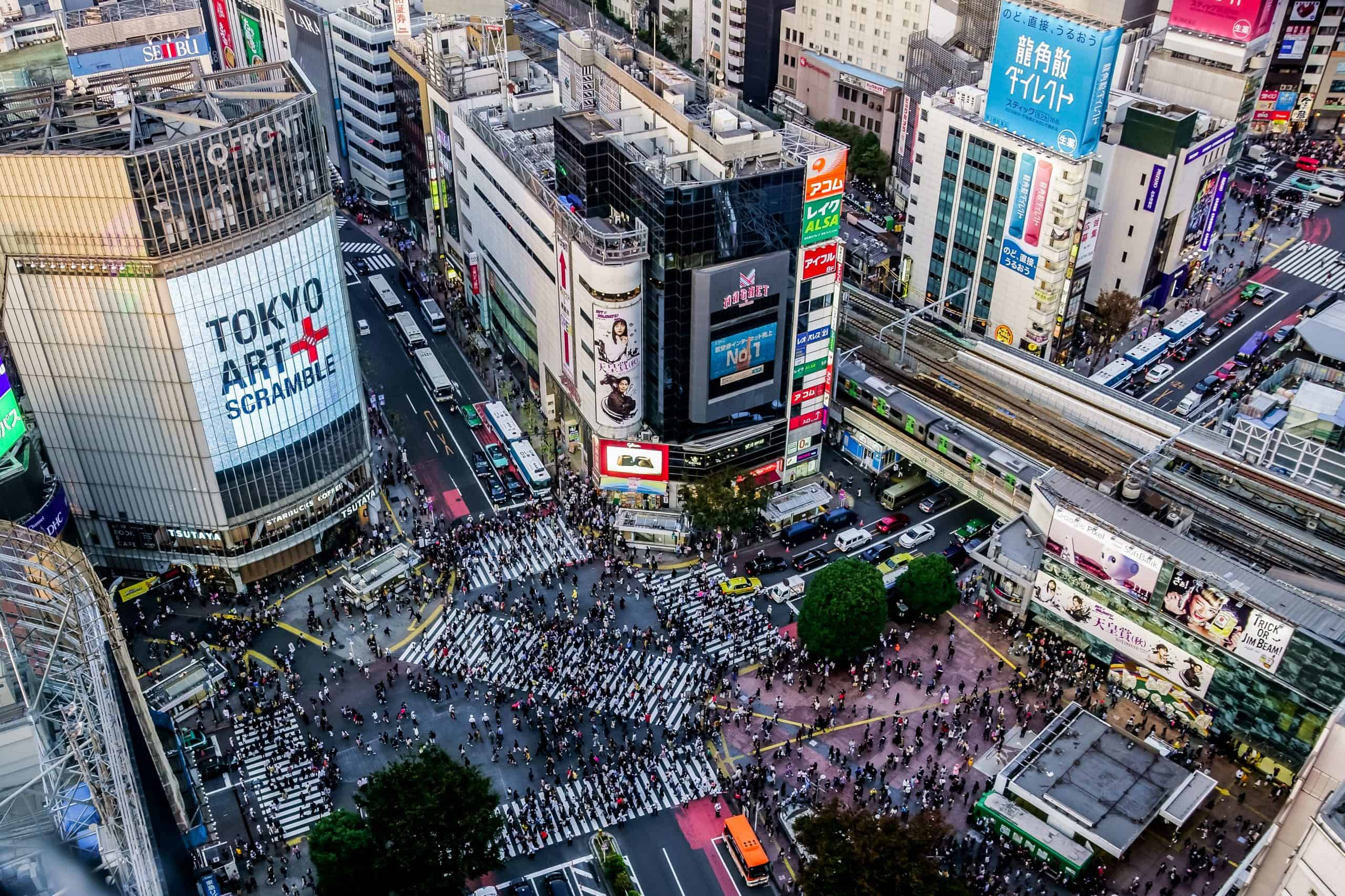 visit the Shibuya Crossing