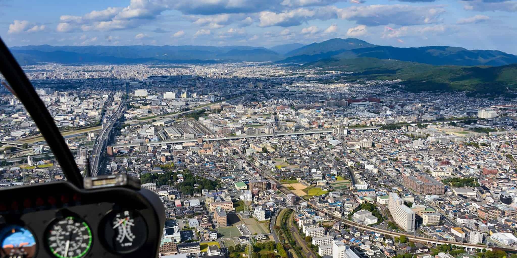 helicopter tour of kyoto
